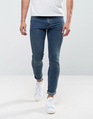 Cheap Monday Синие джинсы скинни. Цвет: синий