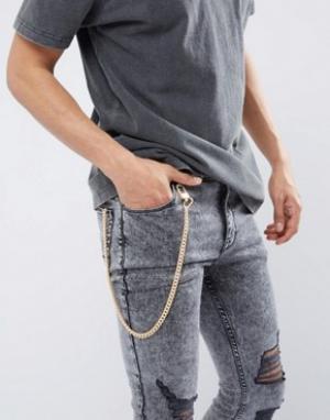 Chained & Able Золотистая цепочка для джинсов. Цвет: золотой