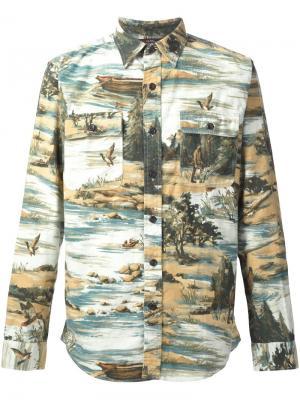 Фланелевая рубашка Matlock Brushed Rrl. Цвет: многоцветный
