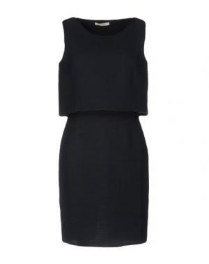 Короткое платье BARBON. Цвет: грифельно-синий