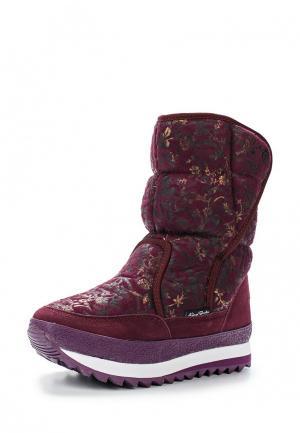 Дутики King Boots. Цвет: бордовый