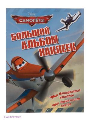 Большой альбом наклеек Самолеты Disney. Цвет: голубой