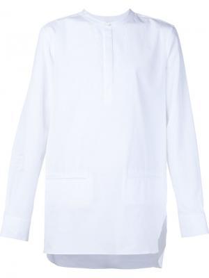 Рубашка без воротника Public School. Цвет: белый