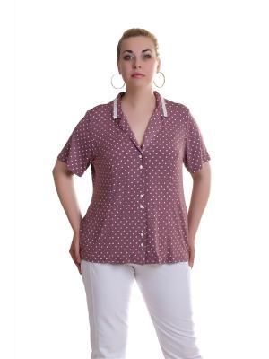 Блуза OLSI. Цвет: розовый, белый