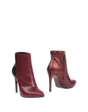Полусапоги и высокие ботинки MI AMOR. Цвет: баклажанный