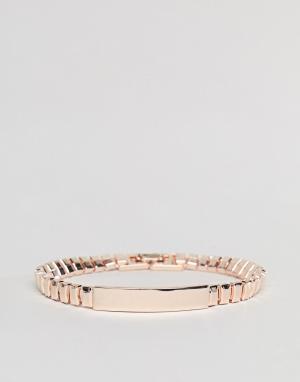 DesignB London Золотисто-розовый браслет эксклюзивно для ASOS. Цвет: золотой