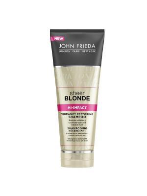 Восстанавливающий шампунь для сильно поврежденных волос Sheer Blonde Hi Impact, 250 мл John Frieda. Цвет: прозрачный