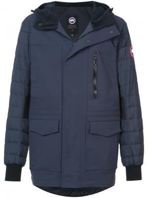 Куртка на молнии с капюшоном Canada Goose. Цвет: синий