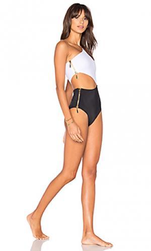 Слитный купальник kim OYE Swimwear. Цвет: черный