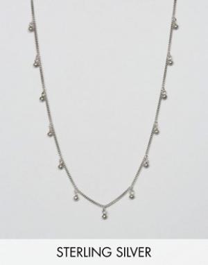 Fashionology Серебряное ожерелье-цепочка с дисками. Цвет: серебряный