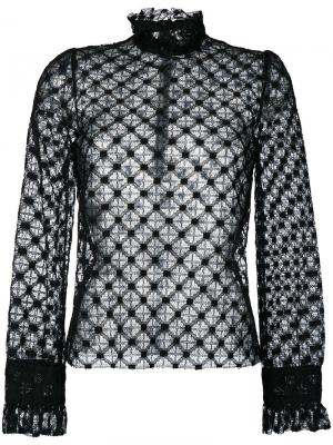 Кружевная рубашка Philosophy Di Lorenzo Serafini. Цвет: чёрный