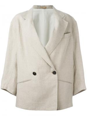 Объемный пиджак Nehera. Цвет: телесный