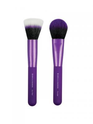 Royal&langnickel MODA EZGLAM DUO FLAWLESS FACE. Набор кистей для макияжа Безупречное лицо. Цвет: фиолетовый