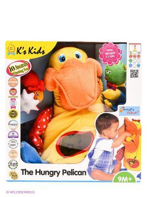 Голодный пеликан с игрушками K'S Kids. Цвет: желтый