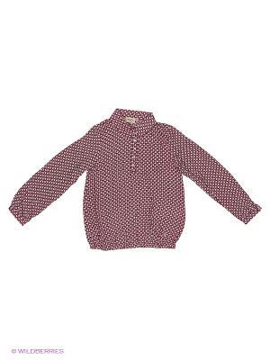 Блузка Finn Flare. Цвет: серый, красный