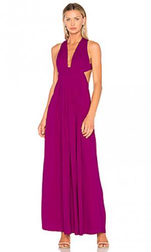 Вечернее платье с вырезом JILL STUART. Цвет: фиолетовый