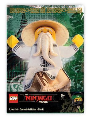 Книга для записей (96 листов, линейка) с резинкой LEGO Ninjago Movie Lego.. Цвет: зеленый, белый, желтый