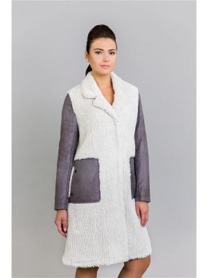 Пальто Socrat. Цвет: молочный