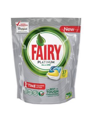 Капсулы для посудомоечной машины Platinum Лимон (37 шт./уп.) Fairy. Цвет: серебристый