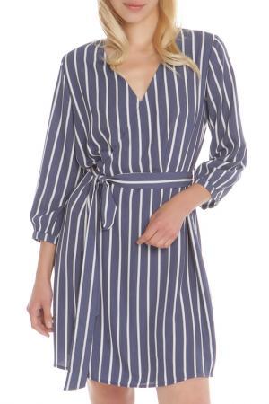 Платье HELLO MISS. Цвет: denim, джинсовый