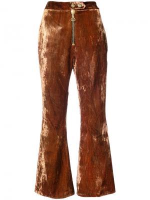 Укороченные брюки клеш Ellery. Цвет: коричневый
