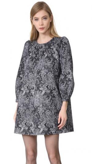 Платье-комбинация с длинными рукавами Marc Jacobs. Цвет: черное кружево