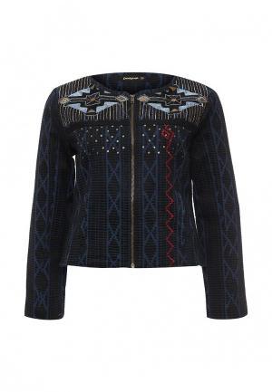 Куртка Desigual. Цвет: синий