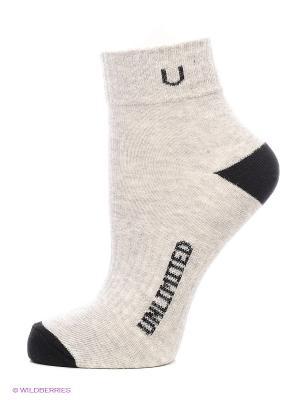 Носки спортивные 5 пар Unlimited. Цвет: серый меланж, черный