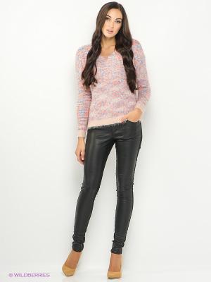 Пуловер ONLY. Цвет: бледно-розовый, голубой