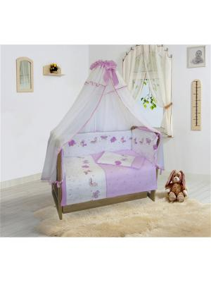 Комплект постельного белья в кроватку, Ласковое лето Soni kids. Цвет: розовый