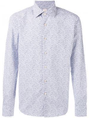 Рубашка с цветочным узором Xacus. Цвет: белый