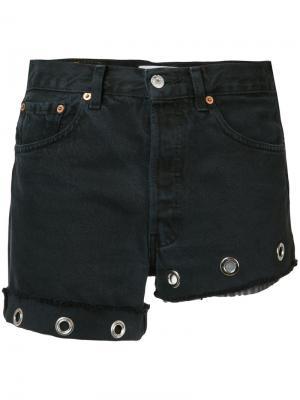 Короткие джинсовые шорты Beau Souci. Цвет: чёрный