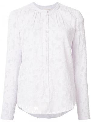 Кружевная блузка без воротника Rebecca Taylor. Цвет: розовый и фиолетовый