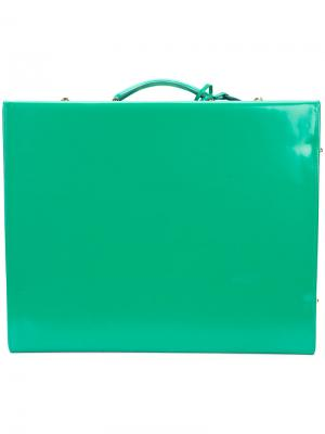 Квадратный чемодан Mark Cross. Цвет: зелёный
