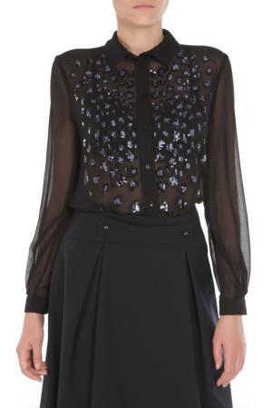 Блуза ELISABETTA FRANCHI. Цвет: черный, пайетки