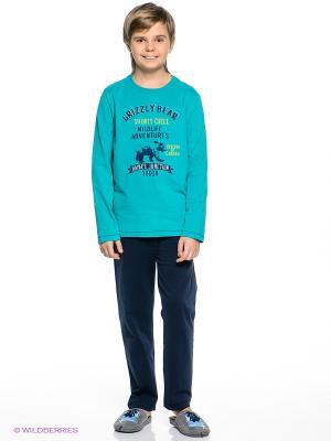 Пижама Sanetta. Цвет: бирюзовый, темно-синий