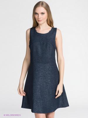 Платье Vila. Цвет: темно-синий