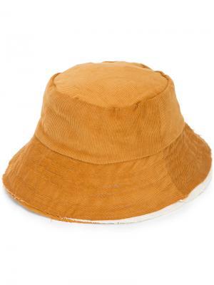 Вельветовая панама Camiel Fortgens. Цвет: коричневый