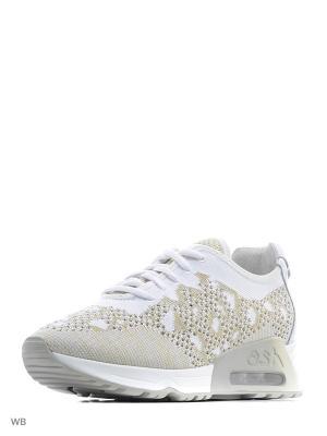 Кроссовки ASH. Цвет: белый, золотистый