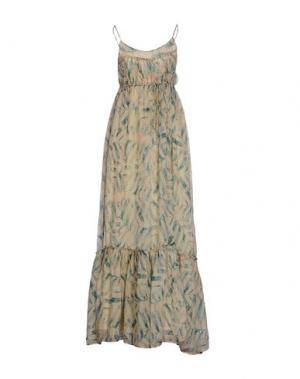 Длинное платье AMBRE BABZOE. Цвет: бежевый