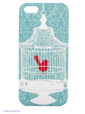Чехол для IPhone 5 Птичка в клетке Mitya Veselkov. Цвет: зеленый, красный, синий