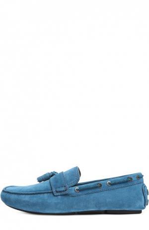 Замшевые топсайдеры с кисточками Biarritz Brioni. Цвет: бирюзовый