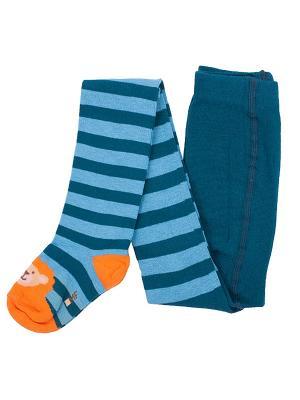 Колготки Mark Formelle. Цвет: синий, голубой, оранжевый