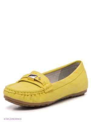 Мокасины KENKA. Цвет: желтый