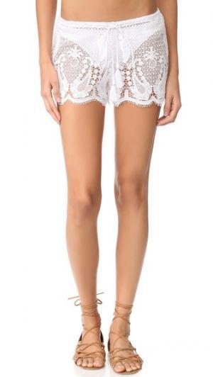 Кружевные шорты Minnie Mirage Miguelina. Цвет: белый