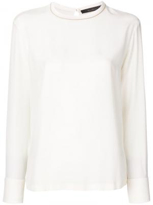 Round neck top Max Mara. Цвет: телесный