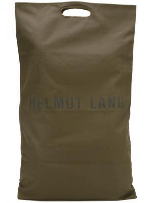 Удлиненная сумка-тоут с логотипом Helmut Lang Vintage. Цвет: зелёный