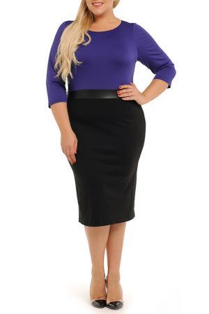Платье Svesta. Цвет: черный, фиолетовый