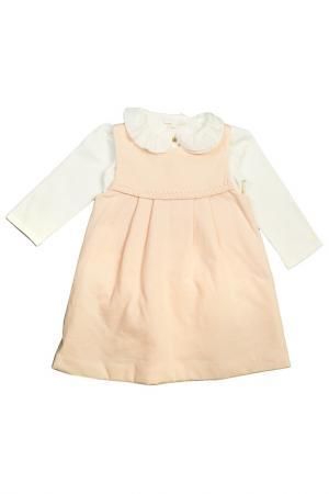 Комплект платьев для девочки и игрушки Chloe. Цвет: бледно-розовый