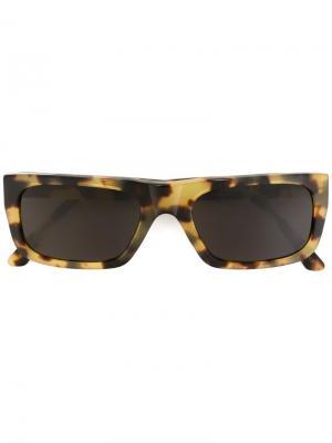 Солнцезащитные очки Augusto Sol Leone Retrosuperfuture. Цвет: коричневый
